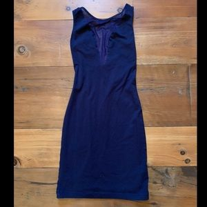 American Apparel Dresses - AMERICAN APPAREL Navy Dress with Sheer Front